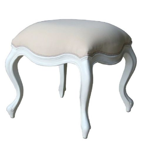 Elegant Stool in Antique White